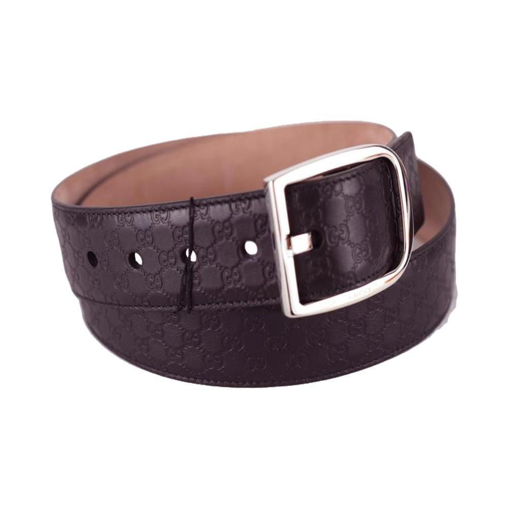 Gucci Men's Microguccissima Dark Brown Leather Belt 449716 Size: 95/38 at_Queen_Bee_of_Beverly_Hills