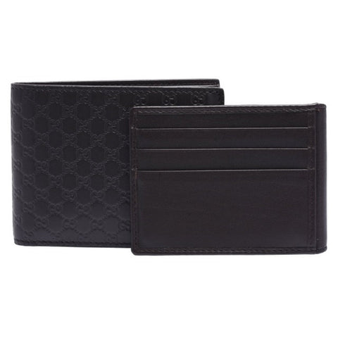 Gucci Men's Microguccissima GG Logo Brown Leather Trifold Wallet 333042 at_Queen_Bee_of_Beverly_Hills