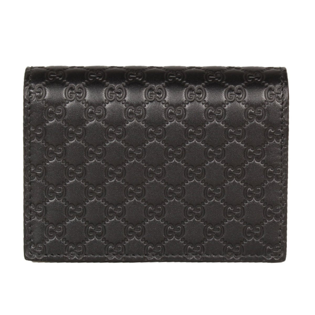 Gucci Men's Microguccissima GG Logo Dark Brown Card Case Wallet 544474 at_Queen_Bee_of_Beverly_Hills