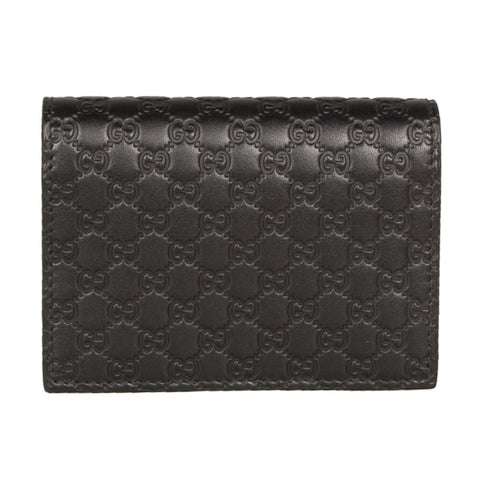 Gucci Men's Microguccissima GG Logo Margaux Dark Brown Card Case 544474 Wallet at_Queen_Bee_of_Beverly_Hills
