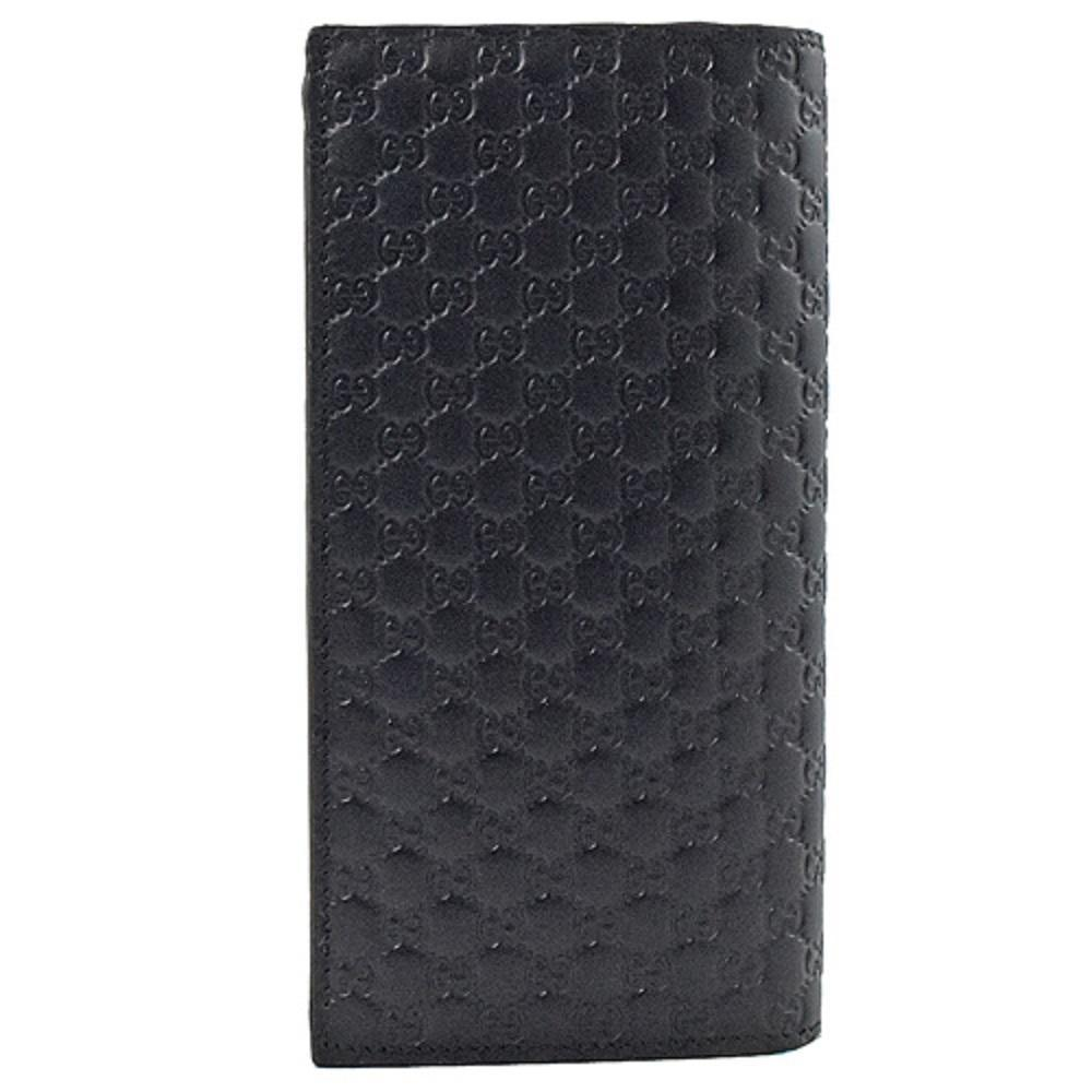 Gucci Men's Microguccissima GG Logo Navy Leather Long Wallet 544479 at_Queen_Bee_of_Beverly_Hills