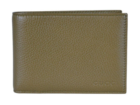 Gucci Men's Moon Leather Bifold Billfold Wallet Classic Olive Green 260987 at_Queen_Bee_of_Beverly_Hills