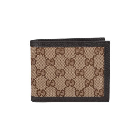 Gucci Men's Orginal GG Canvas Trifold Wallet 333042 Beige/Brown at_Queen_Bee_of_Beverly_Hills