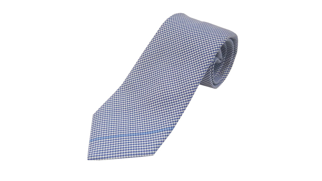 Gucci Men's White/Blue Necktie 367502 at_Queen_Bee_of_Beverly_Hills