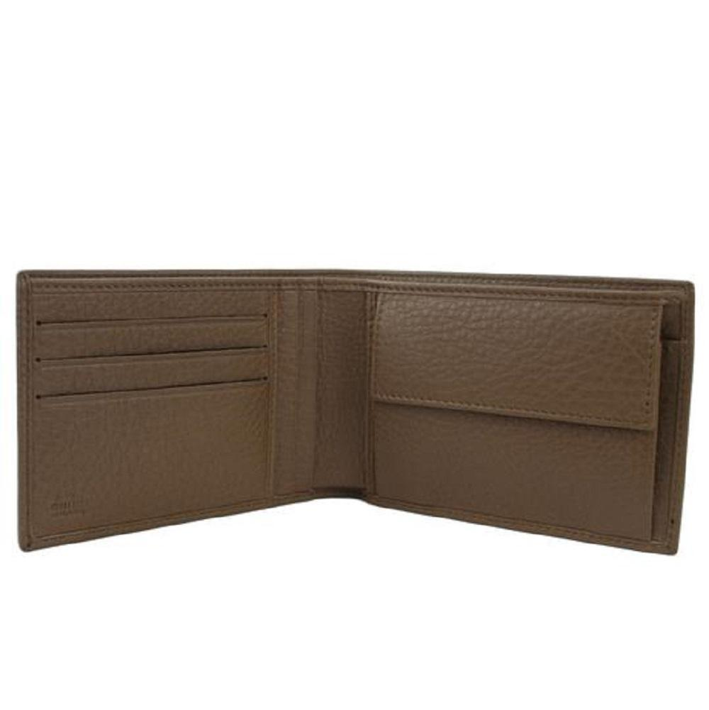 Gucci Mens Acero Brown GG Microguccissima Leather Bifold Wallet 292534 at_Queen_Bee_of_Beverly_Hills