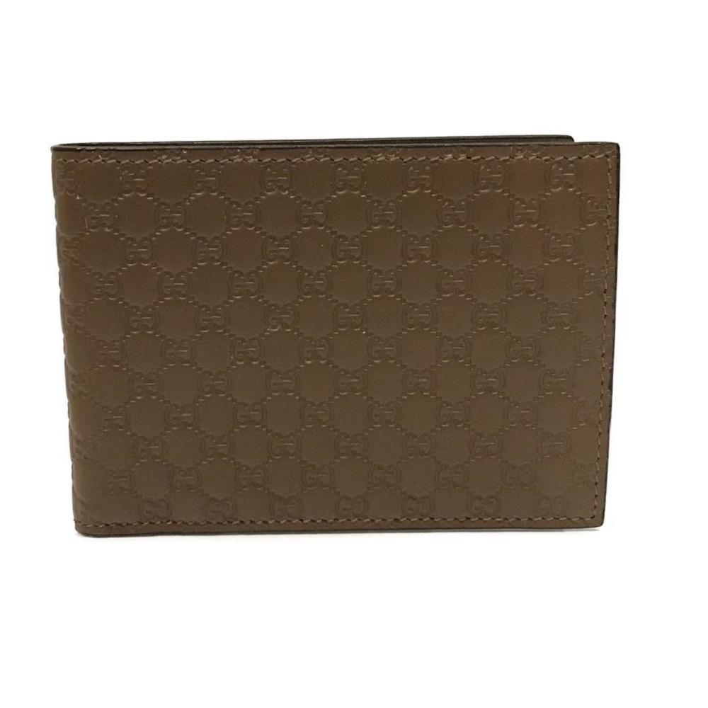 Gucci Mens Acero Brown GG Microguccissima Soft Leather Bifold Wallet 292534 at_Queen_Bee_of_Beverly_Hills