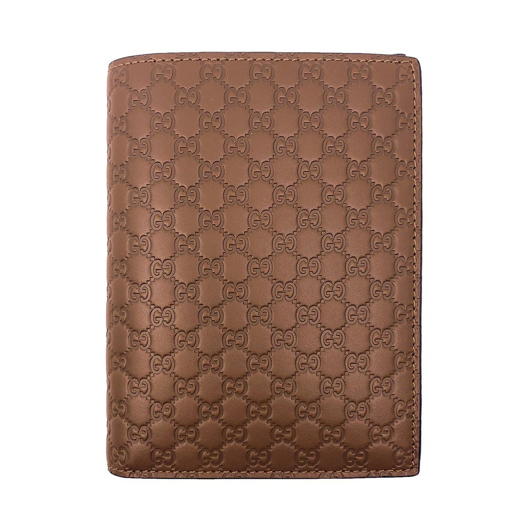 Gucci Mens Acero Brown GG Vertical Passport Case Microguccissima Soft Leather 496948 at_Queen_Bee_of_Beverly_Hills