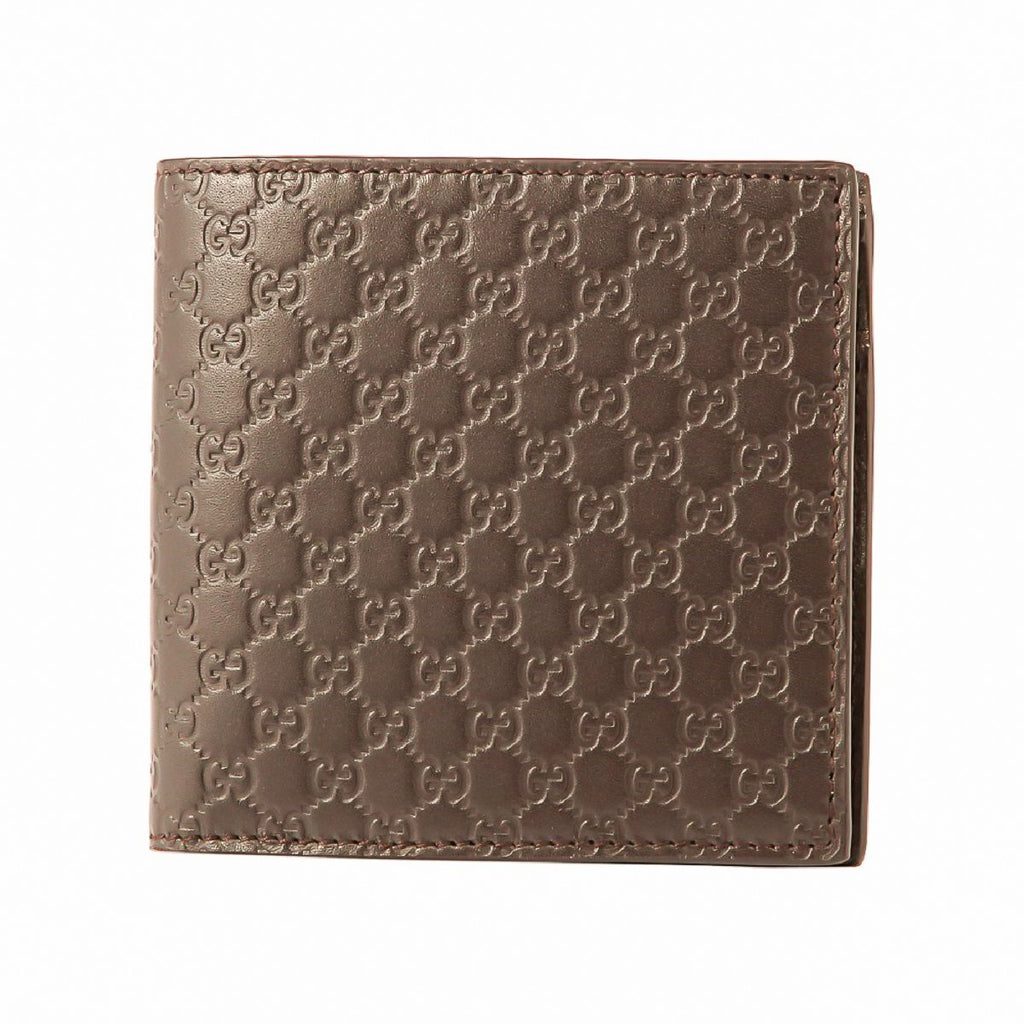 Gucci Mens Acero Brown Microguccissima GG Soft Embossed Leather Bifold Wallet 150413 at_Queen_Bee_of_Beverly_Hills