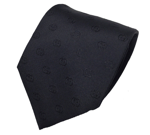 Gucci Mens Black Jaylen Silk Woven Tie 386486 at_Queen_Bee_of_Beverly_Hills