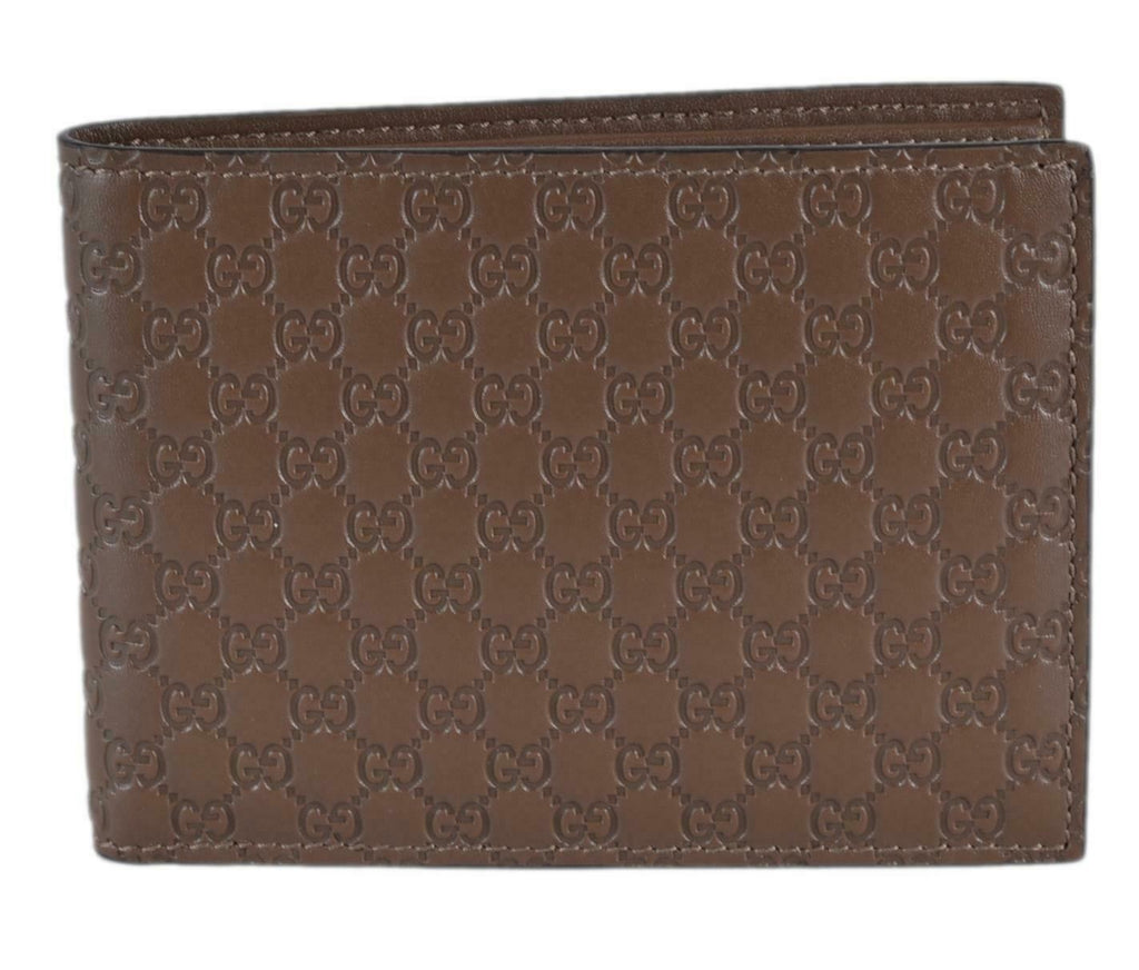 Gucci Mens Brown Microguccissma Leather Bifold Wallet 278596 at_Queen_Bee_of_Beverly_Hills