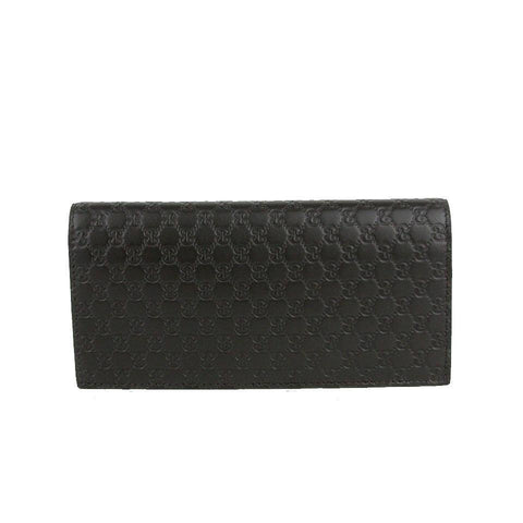 Gucci Mens Microguccissima Brown Leather ID Window Long Wallet 449245 at_Queen_Bee_of_Beverly_Hills