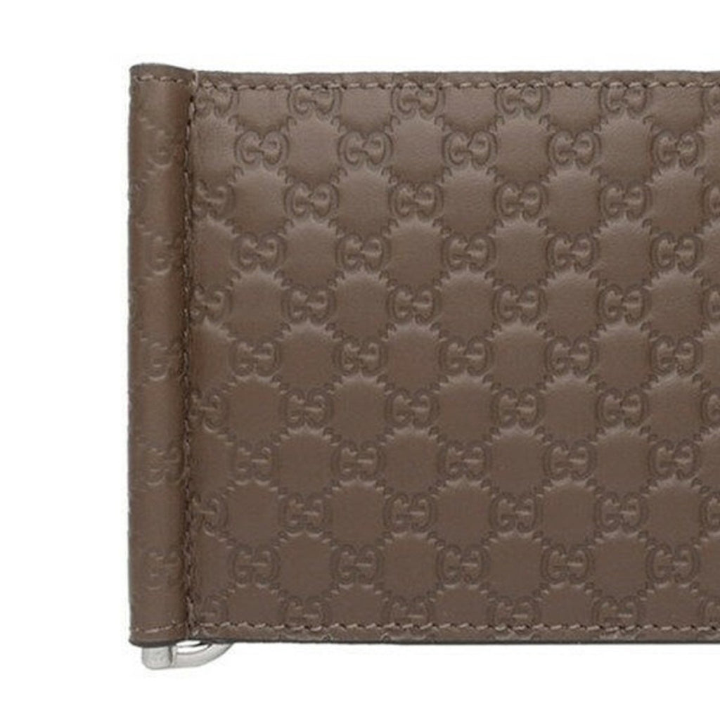 Gucci Mens Microguccissima GG Acero Brown Money Clip Wallet 544478 at_Queen_Bee_of_Beverly_Hills