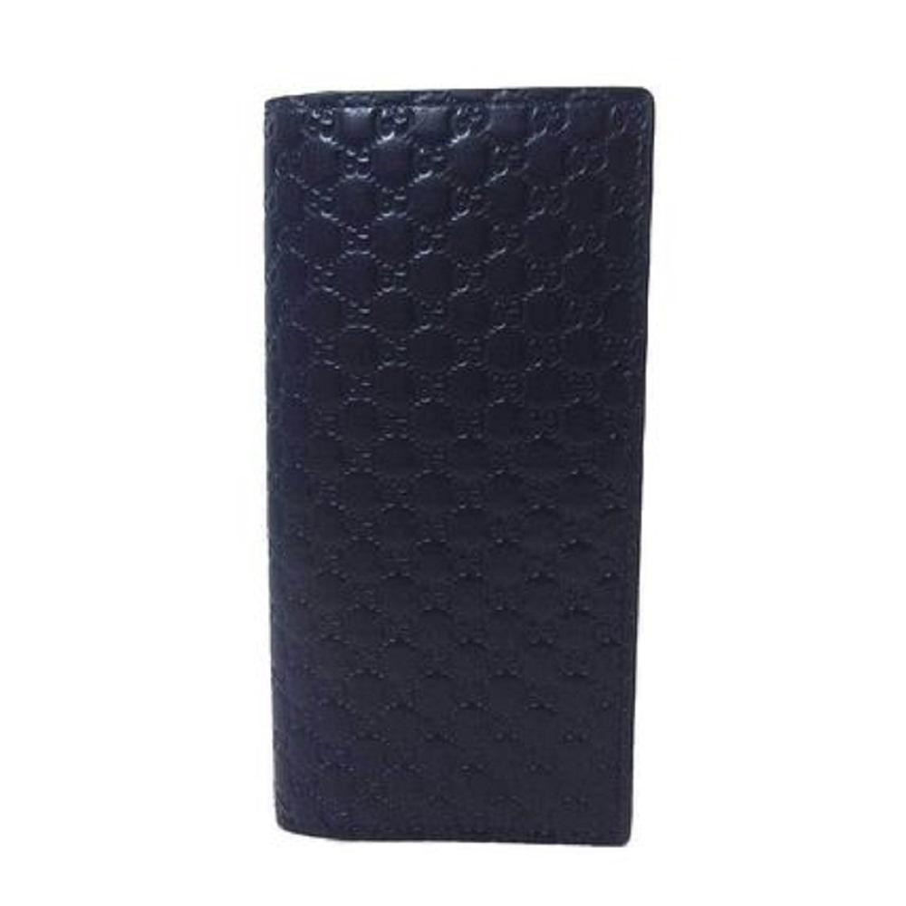 Gucci Mens Microguccissima GG Logo Blue Soft Embossed Leather Long Card Case Wallet 544479 at_Queen_Bee_of_Beverly_Hills
