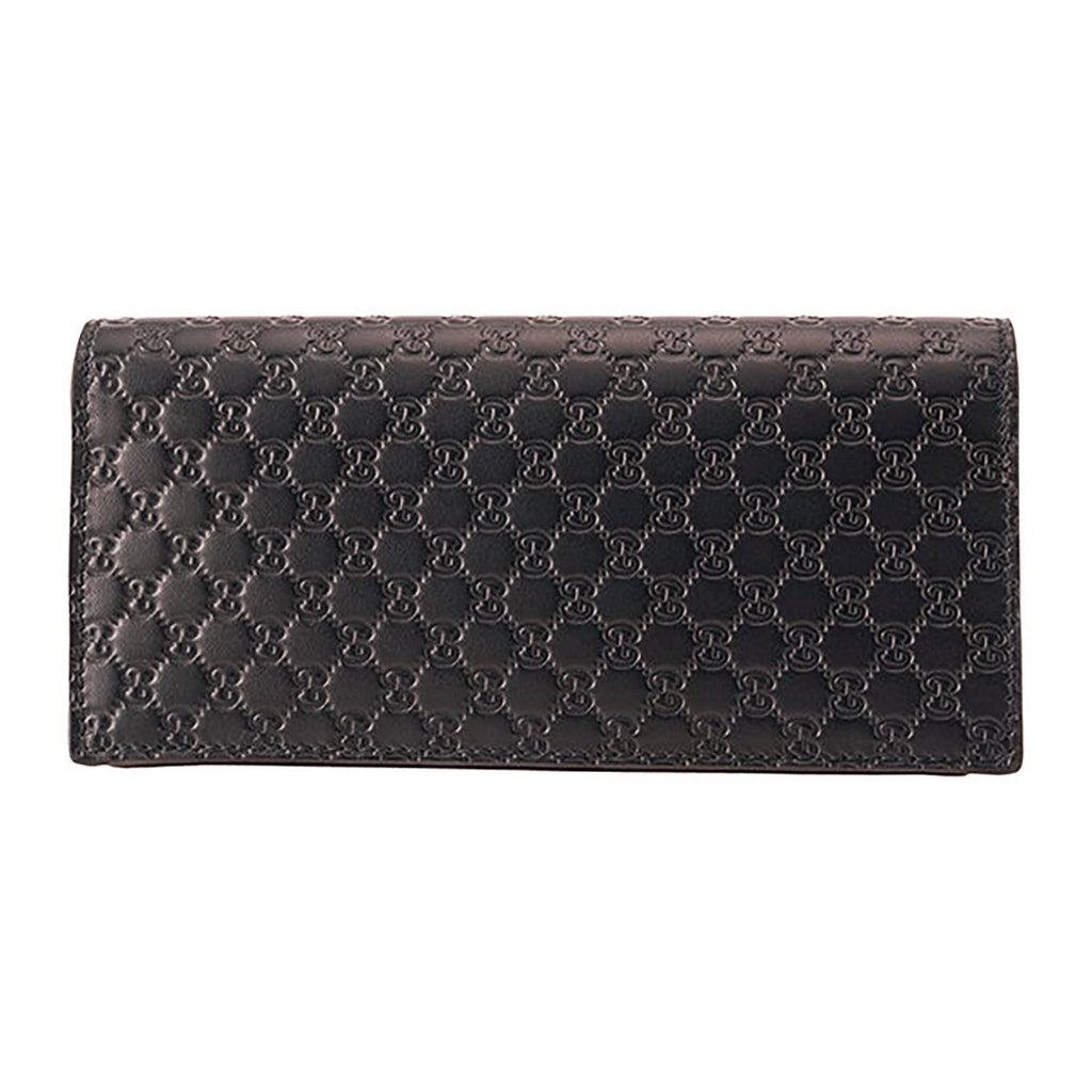 Gucci Mens Microguccissima GG Logo Dark Brown Soft Leather Long Card Case Wallet 544479 at_Queen_Bee_of_Beverly_Hills