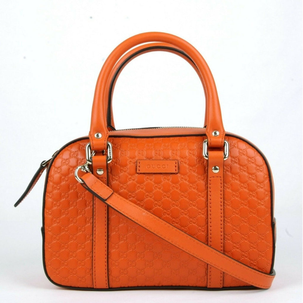 Gucci Micro Guccissima Soft Dollar Calf Maragaux Sun Orange Zip Top Rectangle Bag 510289 at_Queen_Bee_of_Beverly_Hills