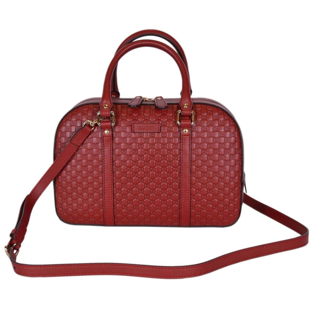 Gucci Micro Guccissima Soft Dollar Calf Margaux Red Zip Top Rectangle Bag Crossbidy 510286 at_Queen_Bee_of_Beverly_Hills