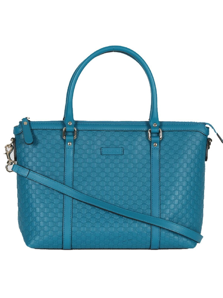 Gucci Microguccissima Deep Cobalt Blue Leather Handbag 449656 at_Queen_Bee_of_Beverly_Hills