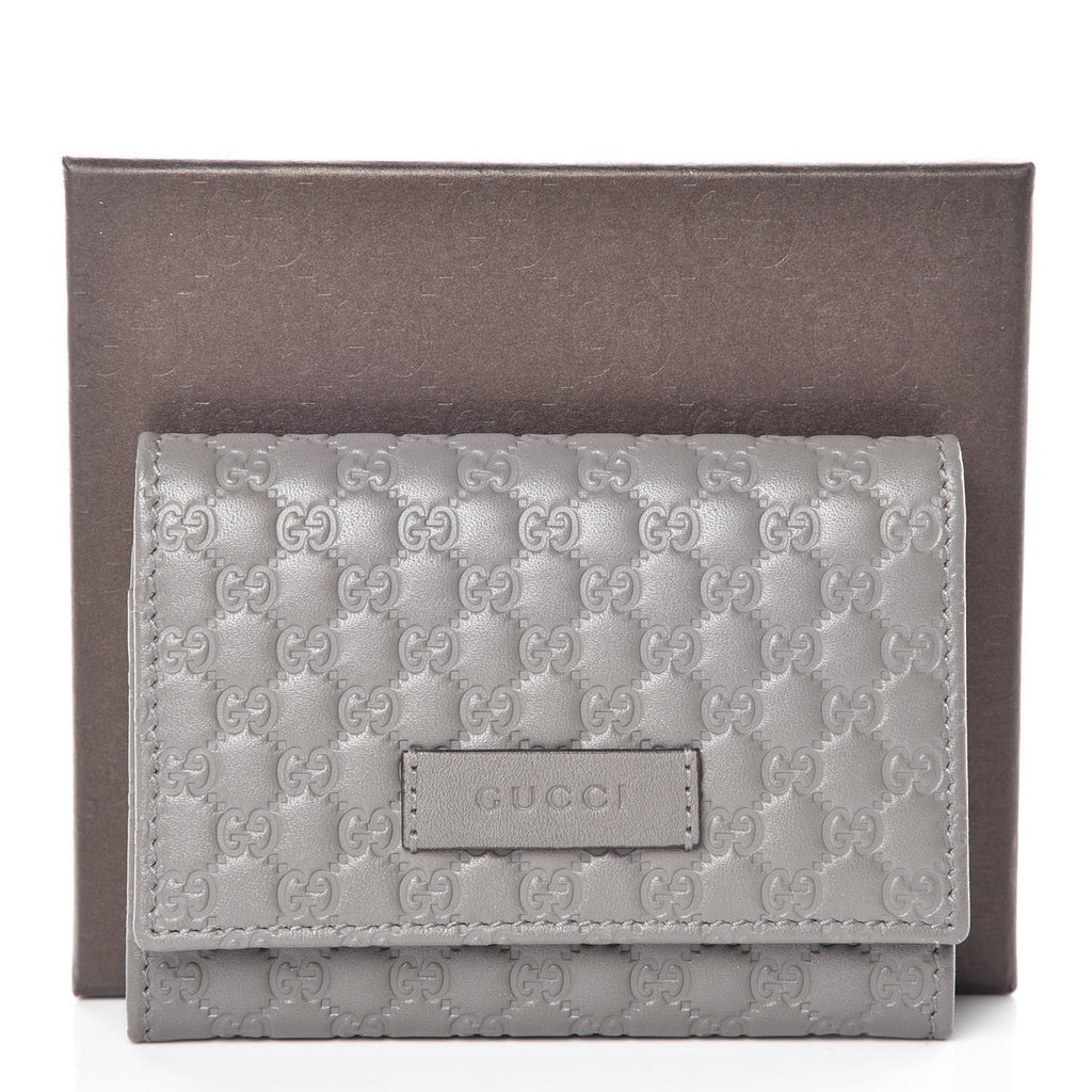 Gucci Microguccissima Loess Grey Leather Cardholder Wallet at_Queen_Bee_of_Beverly_Hills