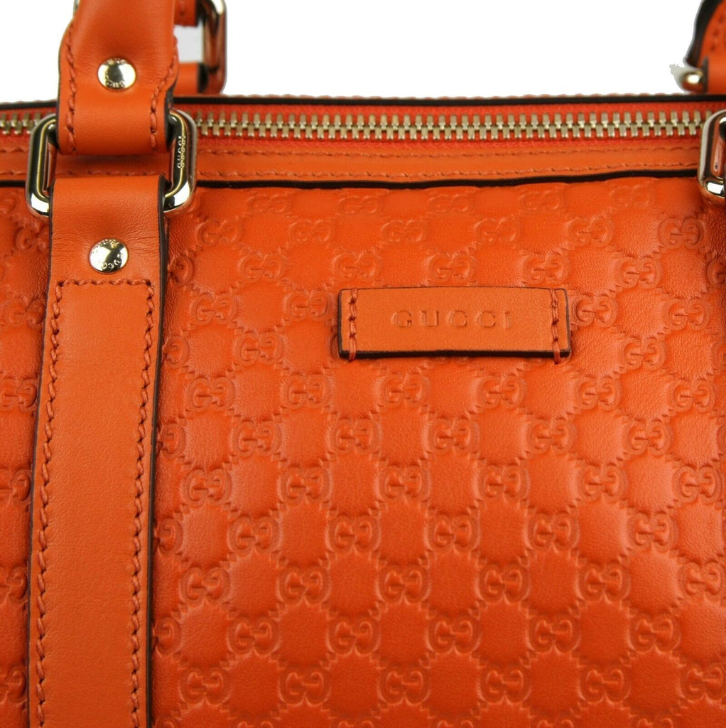Gucci Microguccissima Orange Leather Dome Boston Bag 449646 at_Queen_Bee_of_Beverly_Hills