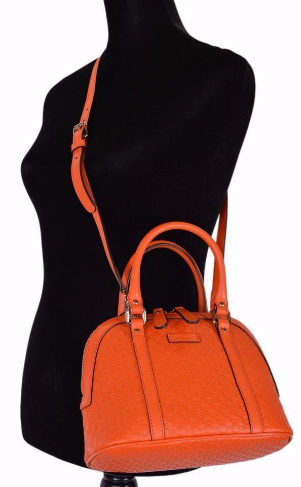 Gucci Microguccissima Soft Margaux Orange Leather Dome Bag 449654 at_Queen_Bee_of_Beverly_Hills
