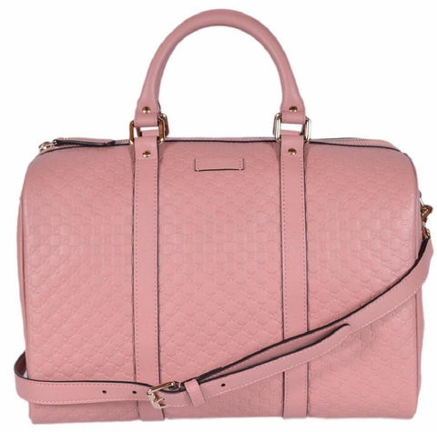 Gucci Microguccissima Soft Pink Leather Dome Boston Bag 449646 at_Queen_Bee_of_Beverly_Hills