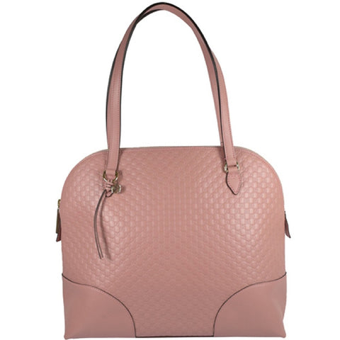 Gucci Microguccissma Light Pink Solf Calf Leather Medium Dome Handbag Tote 449243 at_Queen_Bee_of_Beverly_Hills