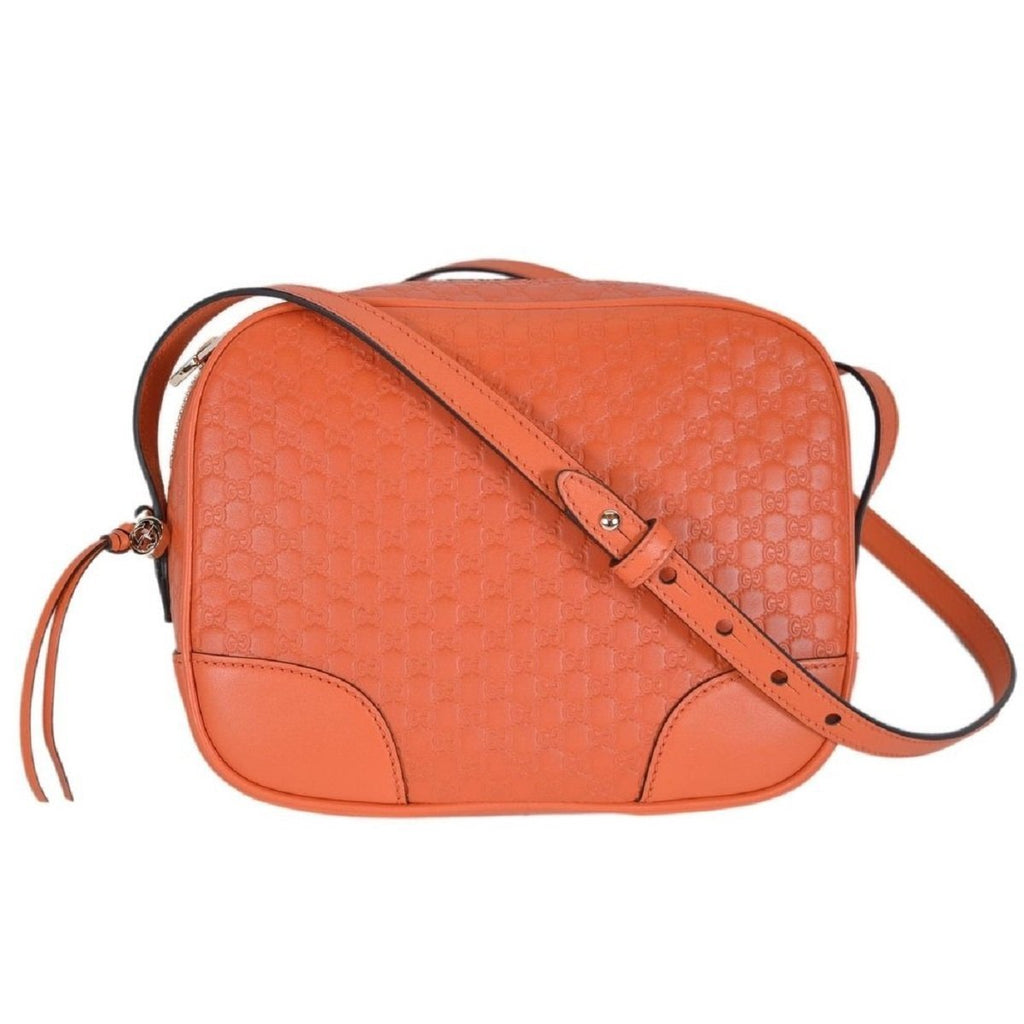 Gucci Mini Bree Microguccissima Soft Calf Margaux Sun Orange Hand Bag 449413 at_Queen_Bee_of_Beverly_Hills