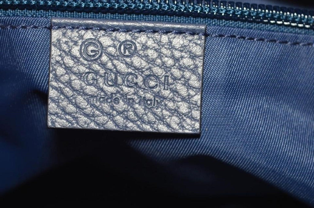Gucci Navy Blue GG Logo Nylon Crossbody Bag 510342 at_Queen_Bee_of_Beverly_Hills
