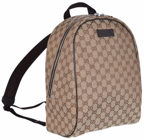 Gucci Original GG Guccissima Backpack Rucksack Travel Bag Tote (Beige/Brown) 449906 at_Queen_Bee_of_Beverly_Hills