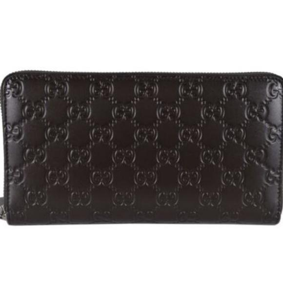 Gucci Signature Mens Cocoa Brown GG Guccissima Calf Leather Wallet 447906 at_Queen_Bee_of_Beverly_Hills