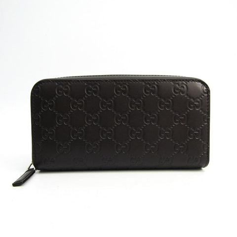Gucci Signature Mens Cocoa Brown GG Microguccissima Calf Leather Zip Wallet 278635 at_Queen_Bee_of_Beverly_Hills