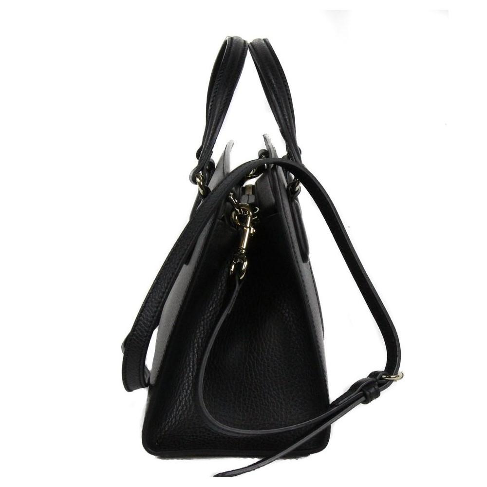 Gucci Soho Leather Tote Crossbody Bag Black 607722 at_Queen_Bee_of_Beverly_Hills