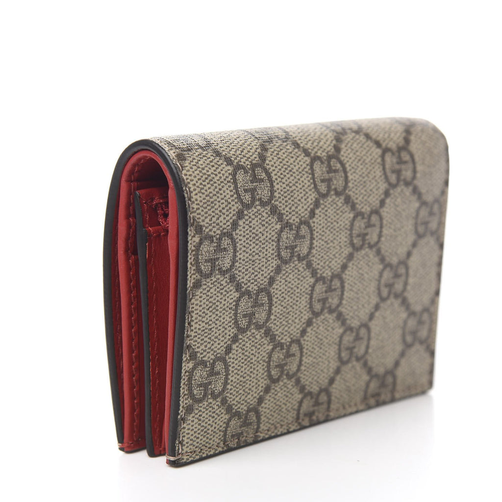 Gucci Supreme Canvas Card Case Wallet with Cherries 476050 at_Queen_Bee_of_Beverly_Hills