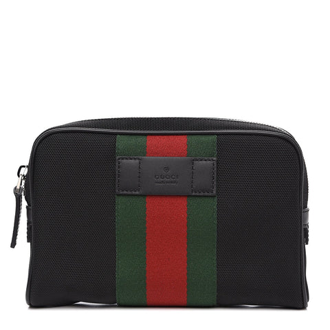 Gucci Techno Canvas Belt Bag Green Red Web 630919 at_Queen_Bee_of_Beverly_Hills