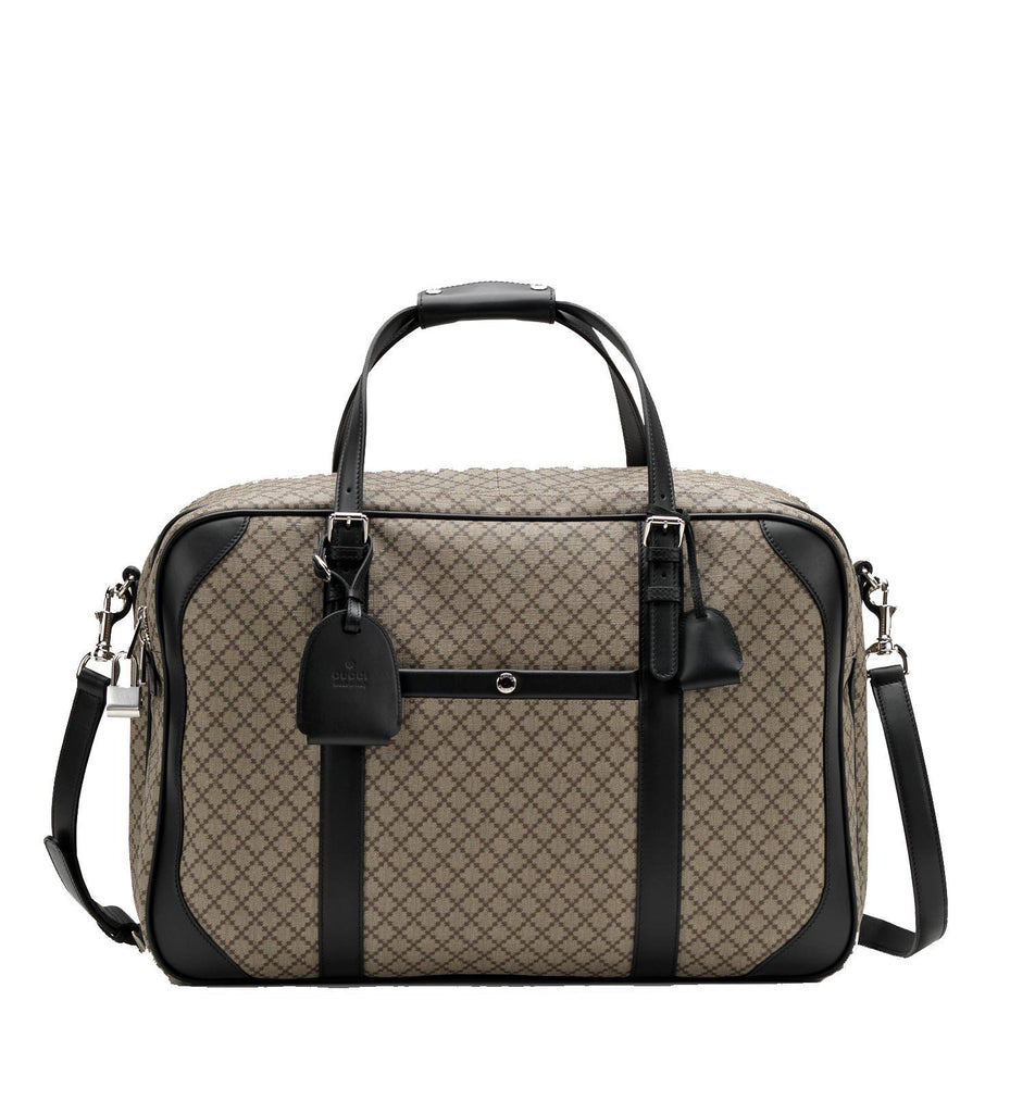Gucci Unisex Classic Diamante Carry-On Luggage Beige/Black 267905 at_Queen_Bee_of_Beverly_Hills