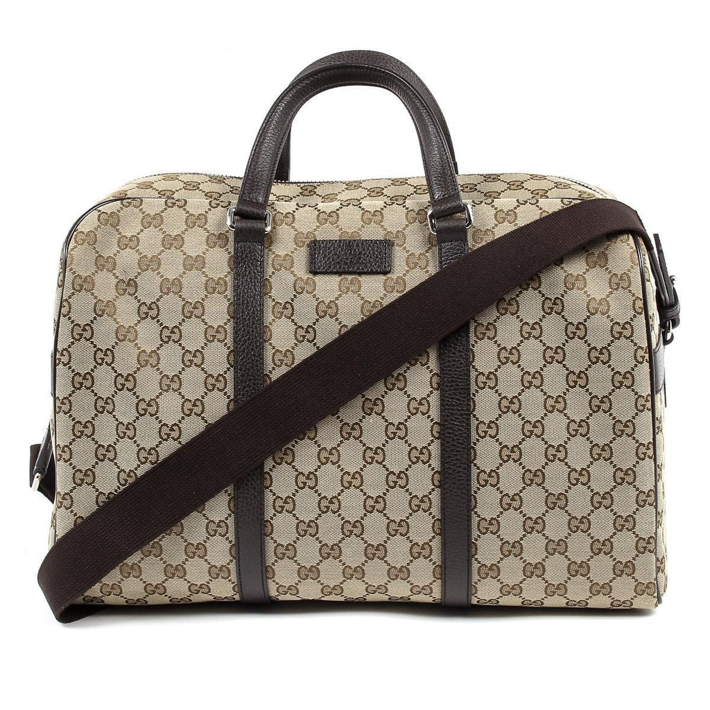 Gucci Unisex Classic Luggage Orginal GG Canvas Carry On Duffle Travel Bag 449167 at_Queen_Bee_of_Beverly_Hills