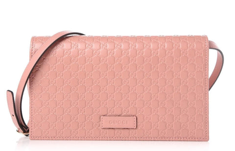 Gucci Wallet 466507 Soft Pink Cross Body Bag at_Queen_Bee_of_Beverly_Hills