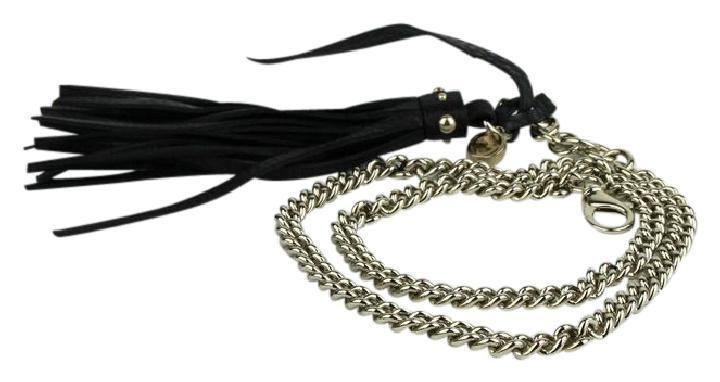 Gucci Women's classic Black Tassel Gold Chain Belt 388992 Size 34 at_Queen_Bee_of_Beverly_Hills