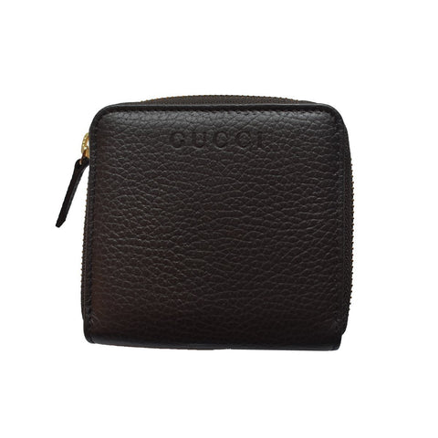 Gucci Women's Classic Dark Brown Leather French Flap Wallet 346056 at_Queen_Bee_of_Beverly_Hills