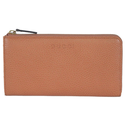 Gucci Women's Classic Saffron Leather Zip Luxury Wallet  332747 7614 at_Queen_Bee_of_Beverly_Hills