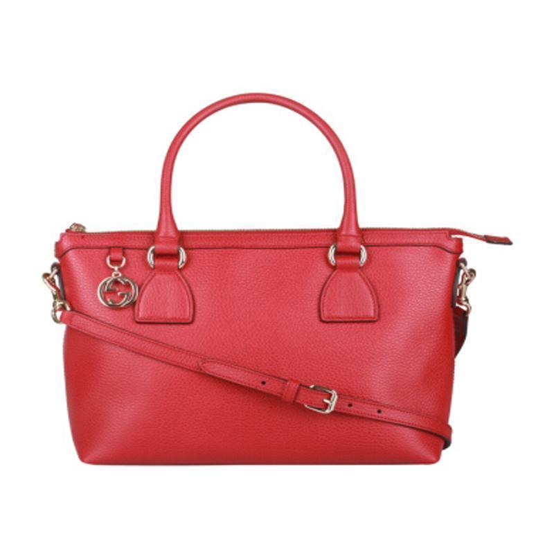Gucci Women's GG Charm Red Handbag 449659 at_Queen_Bee_of_Beverly_Hills