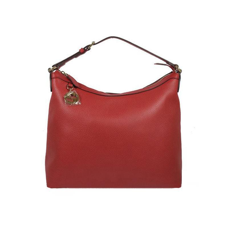 Gucci Women's GG Charm Red Hobo Handbag 449711 at_Queen_Bee_of_Beverly_Hills