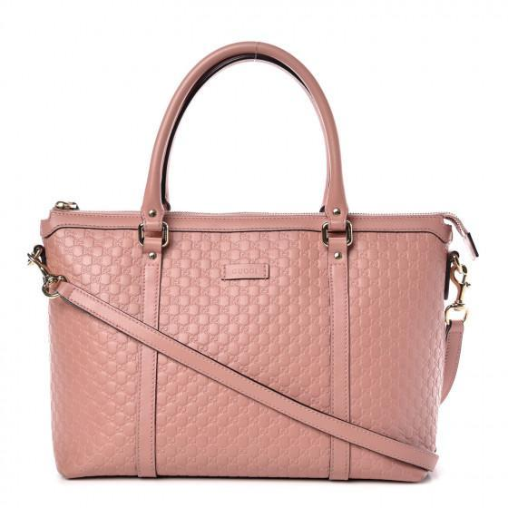 Gucci Women's Light Pink GG Microguccissima Soft Calf Leather Joy Shopping Tote 449647 at_Queen_Bee_of_Beverly_Hills