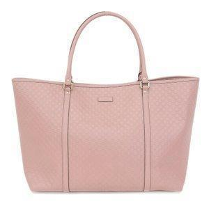 Gucci Women's Light Pink GG Microguccissima Soft Calf Leather Joy Shopping Tote 449648 at_Queen_Bee_of_Beverly_Hills