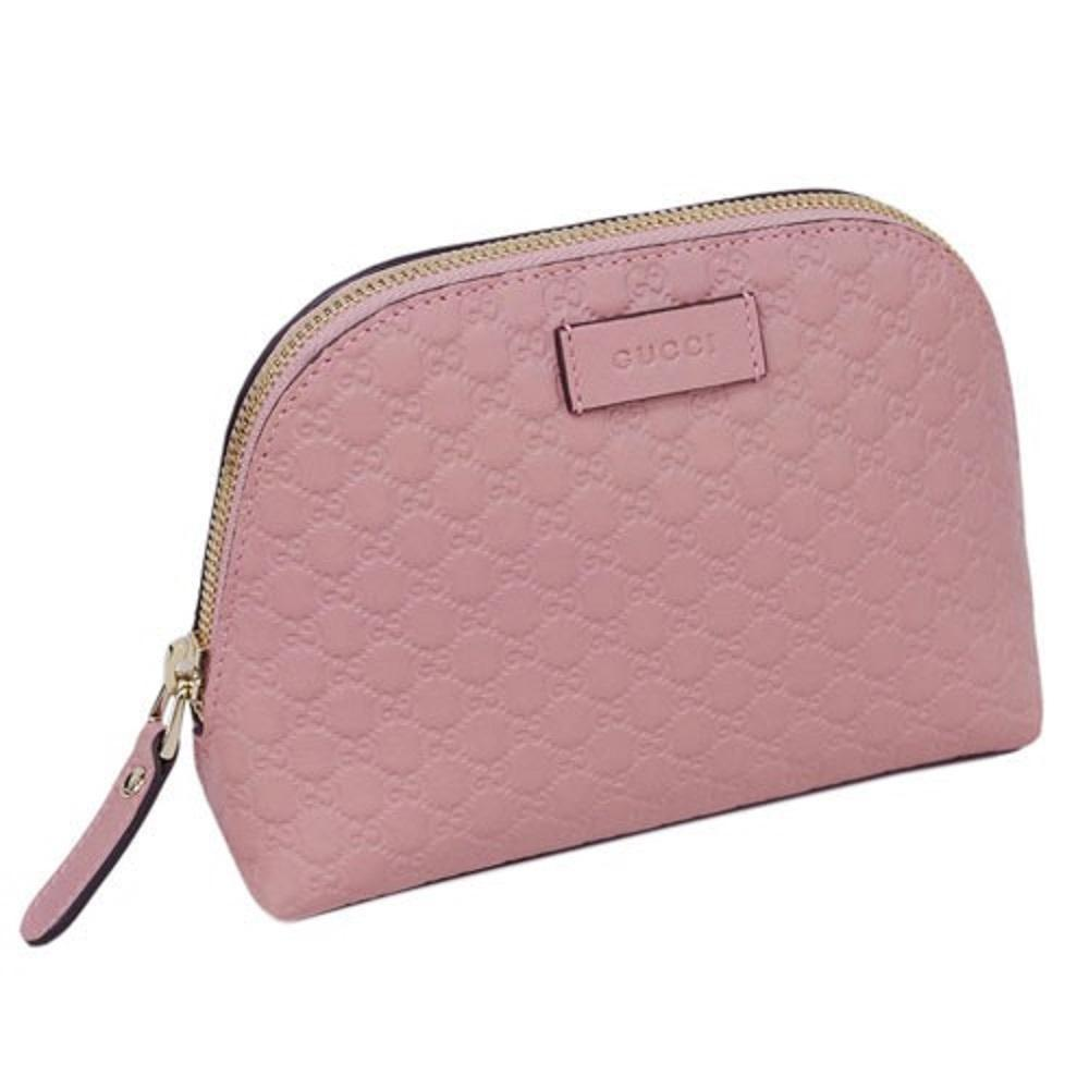 Gucci Women's Microguccissima Leather Soft Pink Zipper Cosmetic Bag 449893 at_Queen_Bee_of_Beverly_Hills