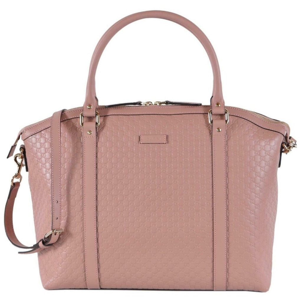 Gucci Women's Microguccissima Light Pink GG Calf Leather Dome Bag 449658 at_Queen_Bee_of_Beverly_Hills