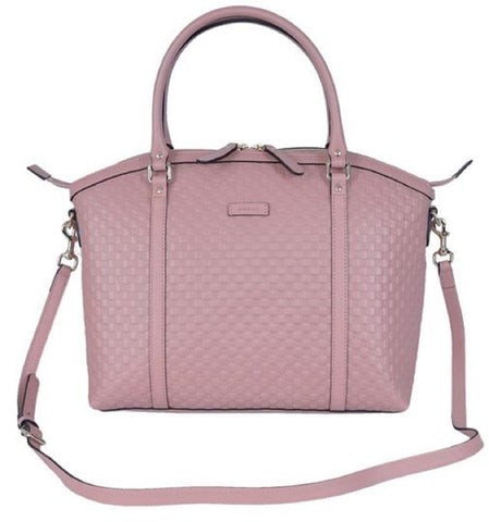 Gucci Women's Microguccissima Light Pink Soft Calf Leather Dome Bag Handbag 449657 at_Queen_Bee_of_Beverly_Hills