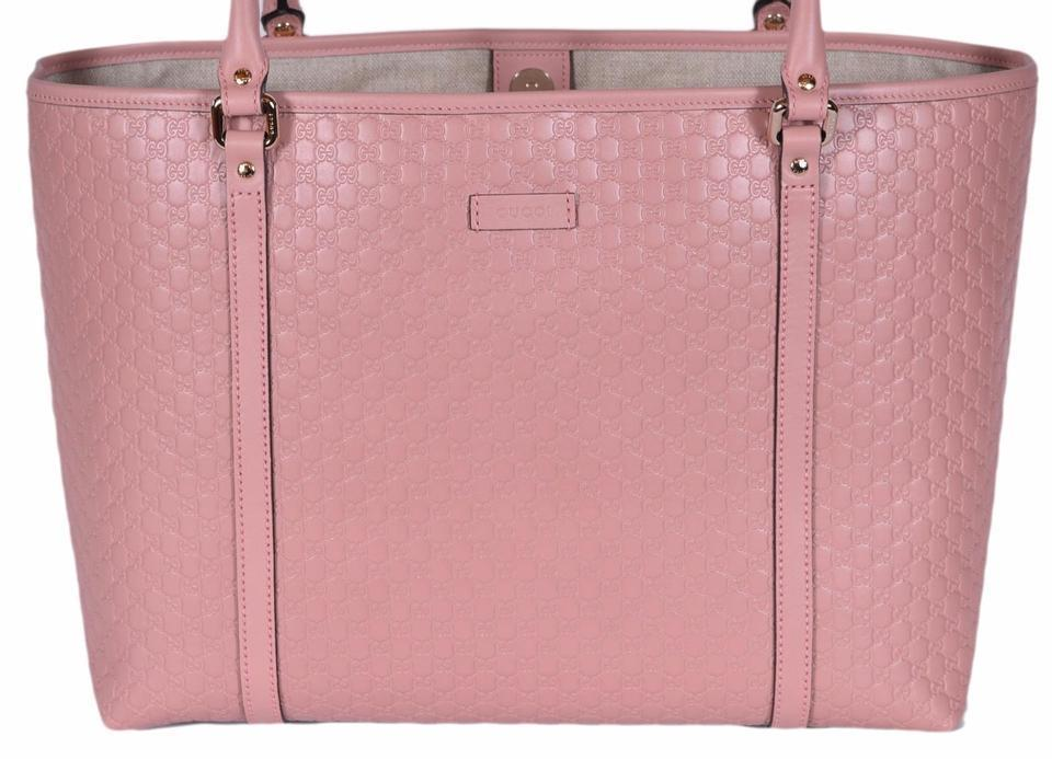 Gucci Women's Pink GG Microguccissima Leather Joy Shopping Tote 449648 at_Queen_Bee_of_Beverly_Hills