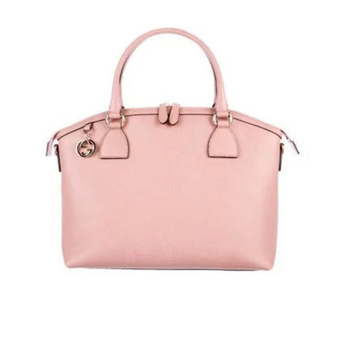 Gucci Women's Soft Pink GG Charm Large Dome Handbag 449660 at_Queen_Bee_of_Beverly_Hills