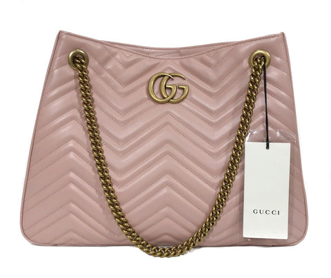 Gucci Women's Violet Old Rose Marmont Matelasse Shoulder Handbag 453569 at_Queen_Bee_of_Beverly_Hills